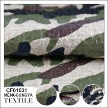 Atacado bela camuflagem revestido chenille tecido revestido de PU