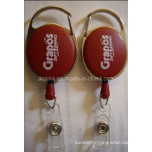Red Badge Reel with Printing Logo