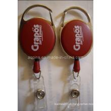 Red Badge Reel com logotipo de impressão