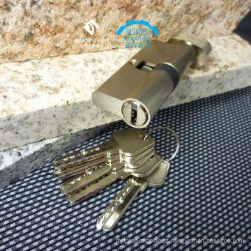 Cilindro europeu do perfil, cilindro aberto da fechadura da porta do hardware do dobro