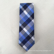 Benutzerdefinierte Ihre eigene Marke Polyester Check Jacquard für Cravat Krawatten Männer
