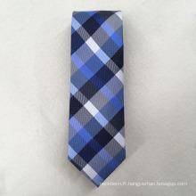 Personnalisé votre propre marque Jacquard de polyester de vérification pour Cravat cravates hommes