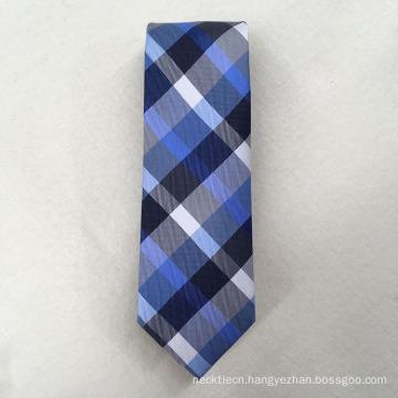 Custom Your Own Brand Polyester Check Jacquard for Cravat Neckties Men