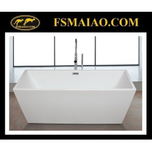 Thin Edge Acrylic Bathroom Bathtub Rectangle Glossy White (9016)