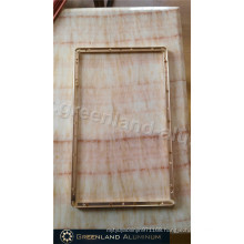 LCD Screen Frame in Aluminium Profile with Anodized Gold Color