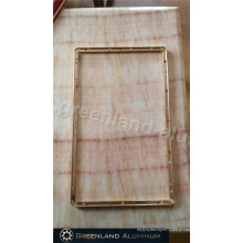 Frame da tela do LCD no perfil de alumínio com cor do ouro anodizado