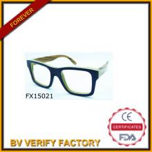 2015 a mano tamaño madera gafas de sol (FX15021)