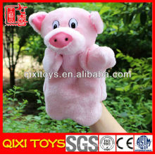 animal pig hand puppet plush toy