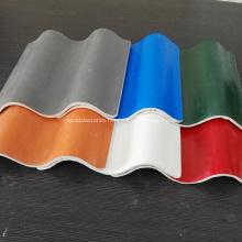 White Beige Glazed Corrugated MgO Roofing Tiles