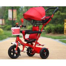 Bicyclette multifonctionnelle d'enfants de tricycle de bébé / tricycle de trois roues pour l'enfant