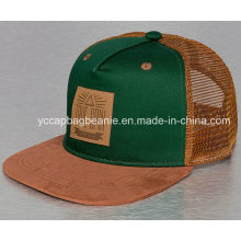 Snapback Trucker Hat with Leather Path Logo