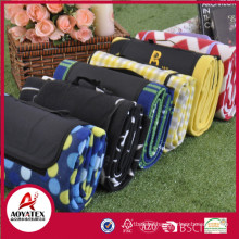 2018 hot sale eco-friendly camping mat green polor fleece picnic mat