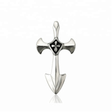 33638 xuping  fashion Stainless Steel jewelry black gun color  elegant cross pendant