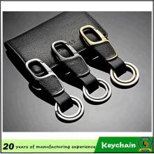 Keychain de couro de alta qualidade relativo à promoção feito sob encomenda