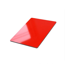 high glossy red PE coating aluminum composite material