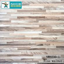 NWseries Nove nogueira Piso de madeira Parquet HDF core Parquet Flooring