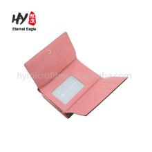 Portefeuille classique en cuir imprimé 3 plis simple