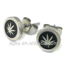 2012 único brinco stud pot folha piercing