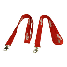 Red Printing Lanyard with ID card holder