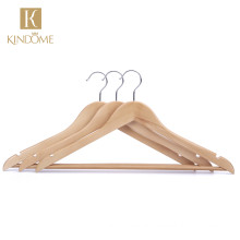 FSC certificate wholesale natural color wood hangers for clothes