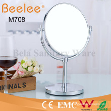 Brass Free Standing Round Double Side Makeup Loupe Mirror