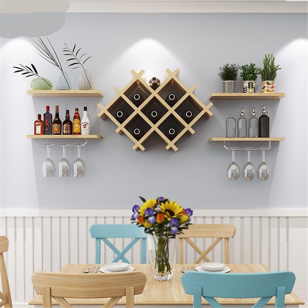 firm thick wooden wine shelf