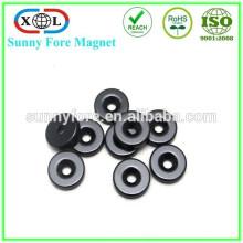 Черный эпоксидной потайной магниты с отверстиями