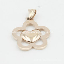 Custom Flower Stainless Steel Fashion Pendant Jewelry
