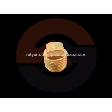 Brass Pipe fitting Square Head Plug