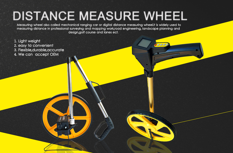 12 Inch Collapsible Counter Distance Measuring Wheel