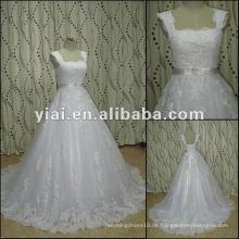 JJ2733 weißes Ballkleid-Bügel-Spitze-Hochzeitskleid späteste Kleidentwurfs-Porzellan alibaba