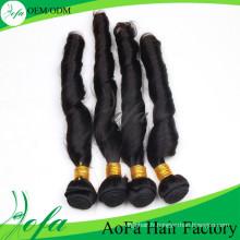 Nouveau style de cheveux humains remy trame de cheveux vierges