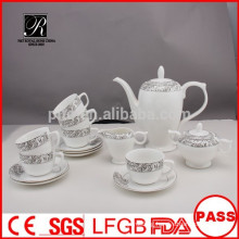 P&T porcelain factory, 15pcs coffee set, England style high tea set