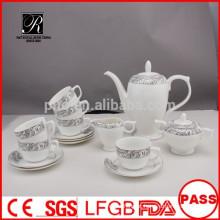 P & T fábrica de porcelana, 15pcs conjunto de café, estilo de Inglaterra high tea set
