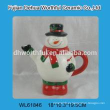 2016 venta directa de fábrica de fábrica tetera de cerámica en forma de muñeco de nieve