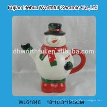 2016 завод прямых продаж керамический чайник в форме снеговика