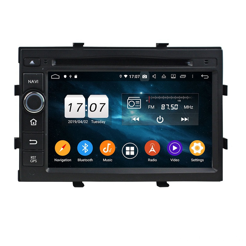2019 Hot octa core car dvd player spin