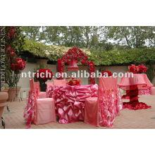 Casamento do cetim babados toalha de mesa