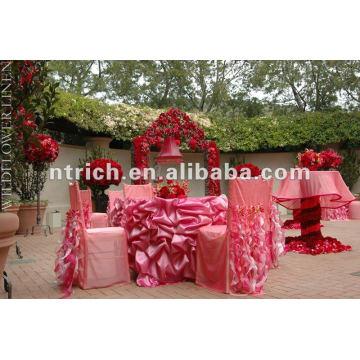 Satin wedding ruffled table cloth