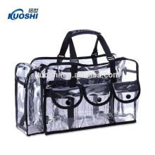 alta qualidade pvc alça sacola de compras com zíper