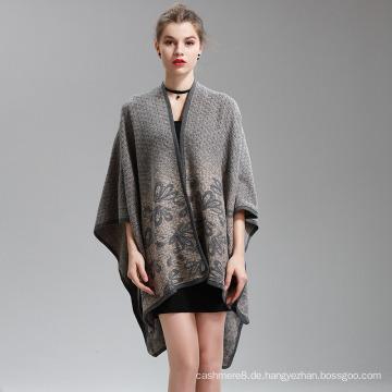 Damen Cashmere Feel Alike Fancy Cape Stola Poncho Schal (SP293)