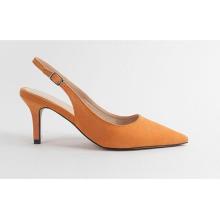 Fashion Slingbacks PU Shoes Manufacturer Custom Women Heels