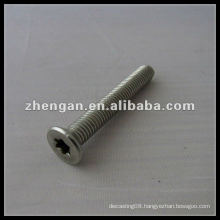 Factory custom stainless steel torx flat head screw