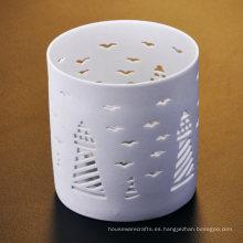 Tenedores de cerámica grabados en torre y gaviota