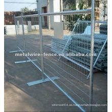Seguridad en el tráfico valla temporal galvanizada en caliente