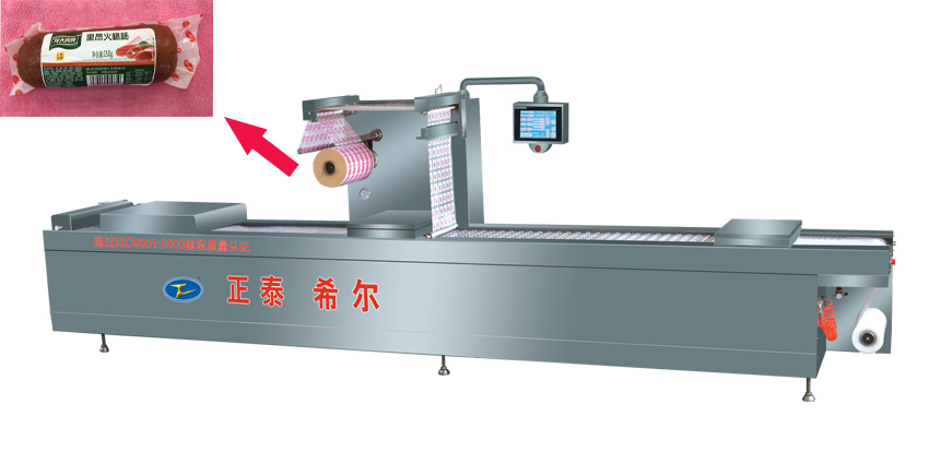 Sausage film vacuum combination packer