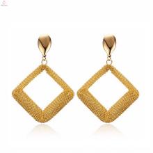 Articles de bijoux de boucle d'oreille de forme spéciale de losange à la mode