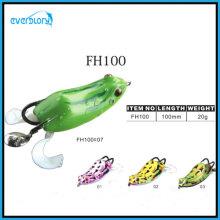 Leurre de pêche grenouille fait à la main vert frais 3D Eye