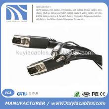 15 pies VGA SVGA macho a macho cable con 3,5 mm de cable de audio estéreo