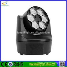 Top quality 6*10w rgbw washer bee eye moving head lighing
